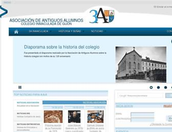 Main page screenshot of aacolegioinmaculada.es