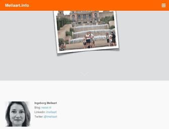 Main page screenshot of mellaart.info