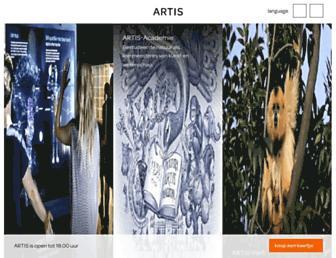 artis.nl screenshot