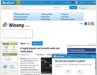 winamp.en.softonic.com screenshot