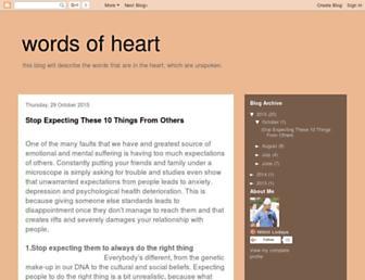 wordsofheartlive.blogspot.com screenshot
