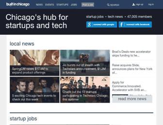 Main page screenshot of builtinchicago.org