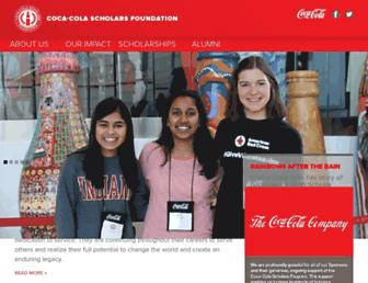 Thumbshot of Coca-colascholarsfoundation.org