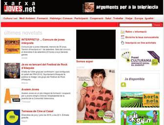 Main page screenshot of joves.net