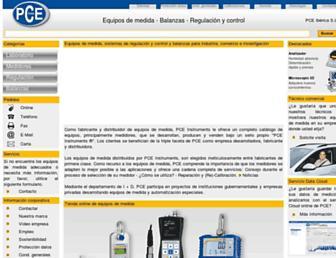Main page screenshot of pce-iberica.es