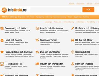 Main page screenshot of infodirekt.se