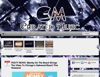 curatedmusic.com screenshot