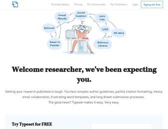 typeset.io screenshot