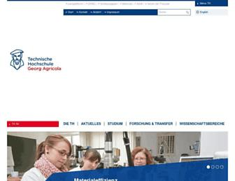 Main page screenshot of tfh-bochum.de