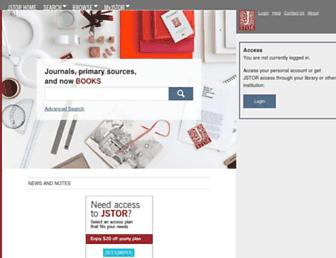 jstor.org screenshot