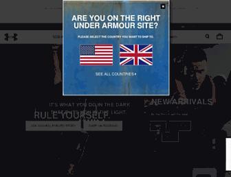Screenshot for underarmour.co.uk