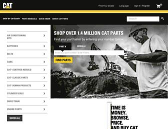 parts.cat.com screenshot