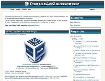 portableappz.blogspot.com screenshot