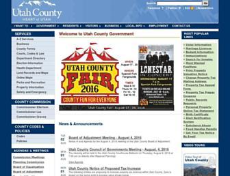 utahcounty.gov screenshot