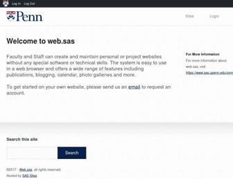 web.sas.upenn.edu screenshot