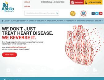 ahmedabad.apollohospitals.com screenshot