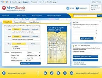 metrotransit.org screenshot