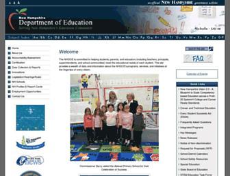 education.nh.gov screenshot