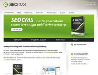 Main page screenshot of seocms.se
