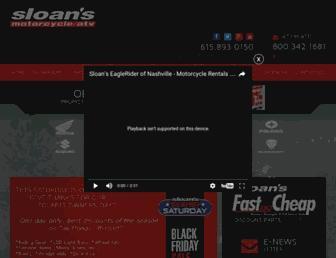 sloansmotorcycle.com screenshot