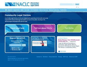 naclc.org.au screenshot