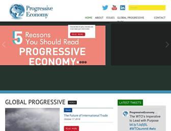 progressive-economy.org screenshot