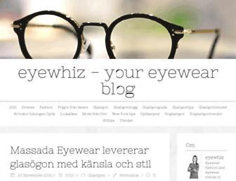 Main page screenshot of brillor.blogg.se