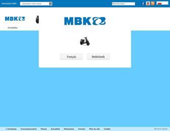 Main page screenshot of mbk.fr