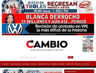 Main page screenshot of diariocambio.com.mx