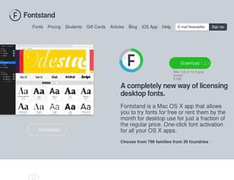 fontstand.com screenshot