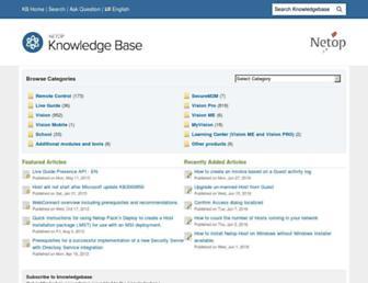 kb.netop.com screenshot