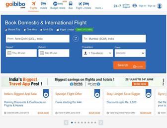 goibibo.com screenshot