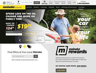 meineke.com screenshot