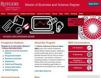 mbs.rutgers.edu screenshot