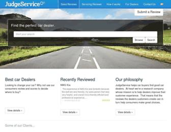 judgeservice.com screenshot