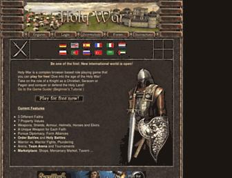 Main page screenshot of holy-war.net