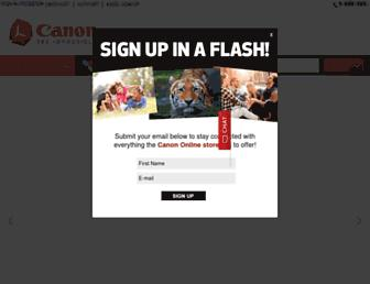 shop.usa.canon.com screenshot