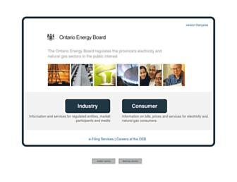 Thumbshot of Ontarioenergyboard.ca