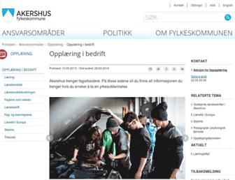 Main page screenshot of yrke.no