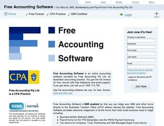 freeaccountingsoftware.com.au screenshot