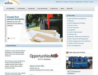www2.gnb.ca screenshot