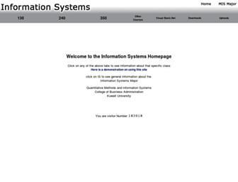 is.cba.edu.kw screenshot