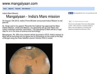 Thumbshot of Mangalyaan.com