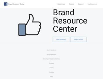 en.facebookbrand.com screenshot