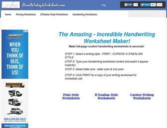 handwritingworksheets.com screenshot