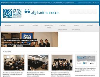 etxepareinstitutua.net screenshot