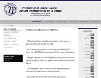 cid-portal.org screenshot