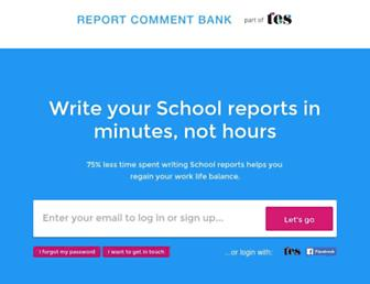 reportcommentbank.co.uk screenshot