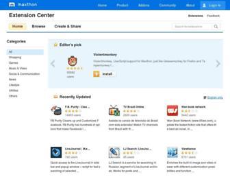 extension.maxthon.com screenshot