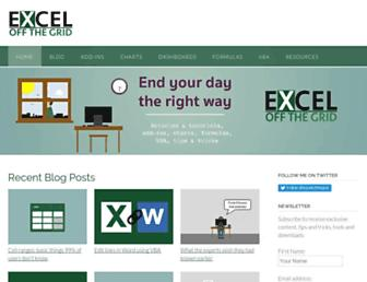 exceloffthegrid.com screenshot